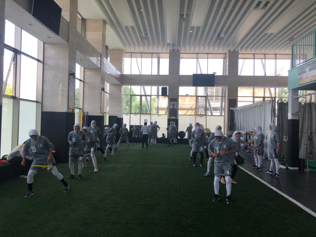 برگزاری تمرین تیم ملی فوتبال در پک